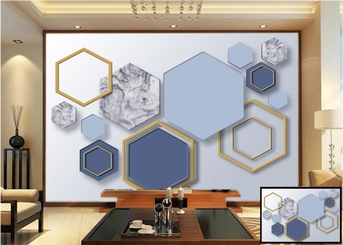 3d Abstract wall mural