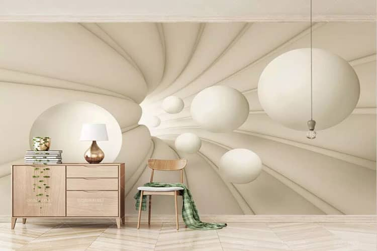 Abstract Space Ball wall mural