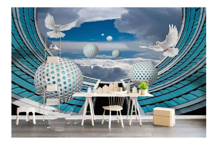 3d Bubble wall mural