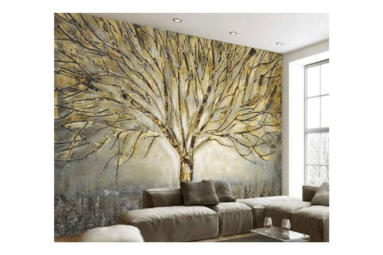 3D Abstract Art Relief Oil Painting Tree