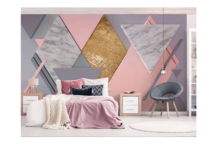 3D Abstract Pink Marble