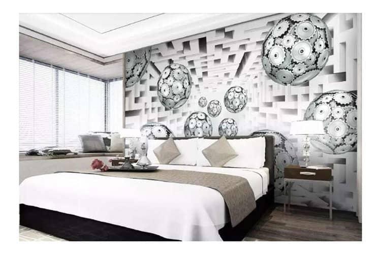 3D Balls wall mural
