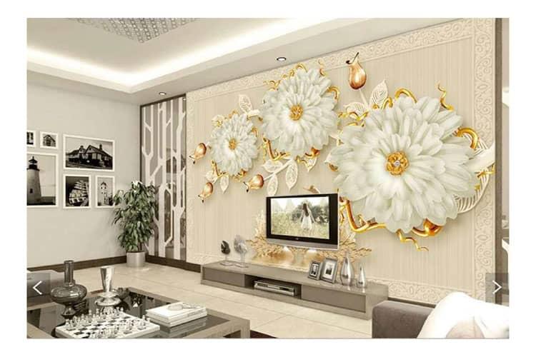 3D diamond wall mural