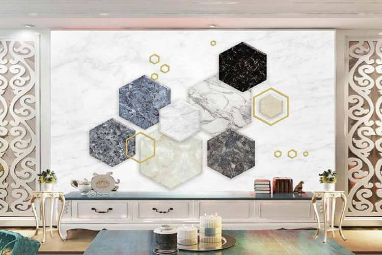 3d Geometric Marble