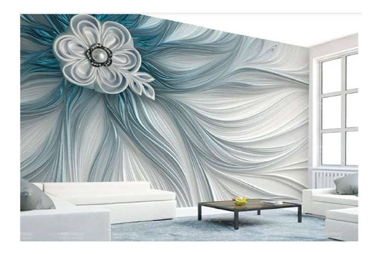 Abstract Flower Stripe Lines Wall mural