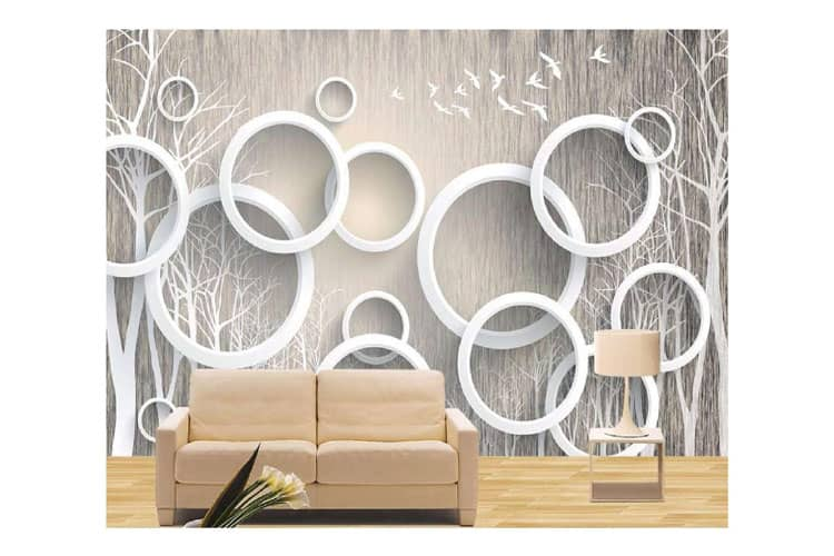 3D abstract Forest wall Mural