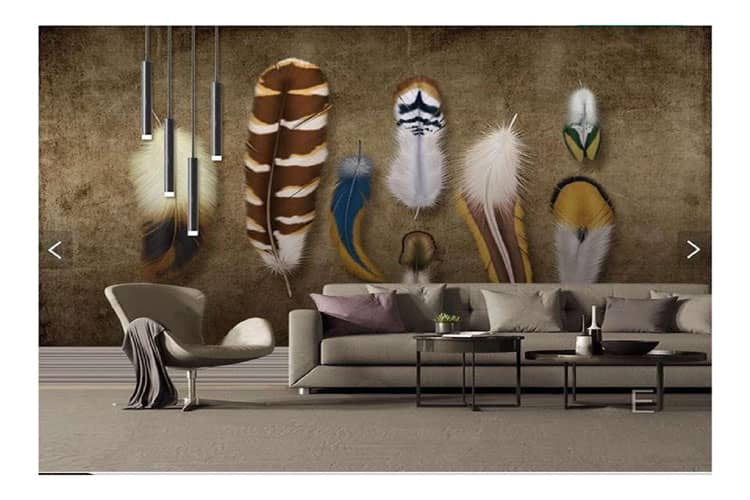 Colorful Feather wall mural