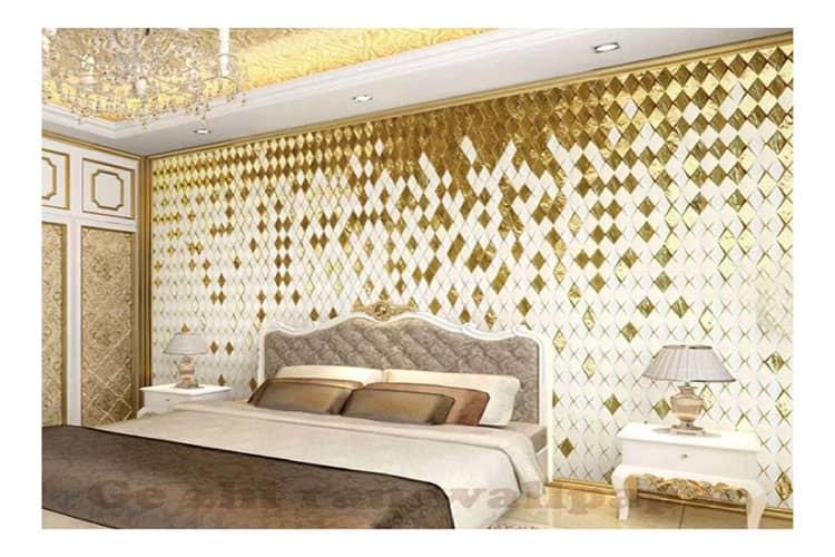 Gold diamond wall mural