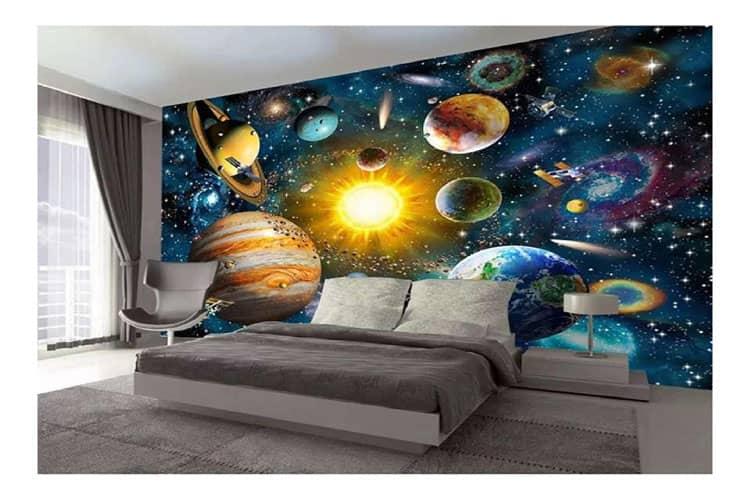 Modern cartoon space mural
