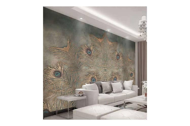 Peacock Feather abstract art wall painting
