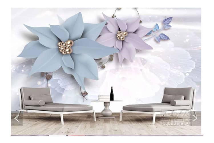 White background floral