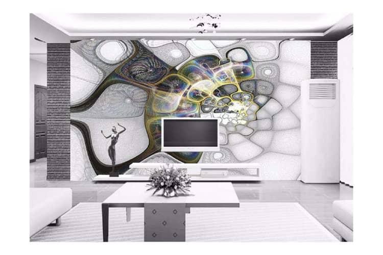 3D-abstract-mural-wallpaper