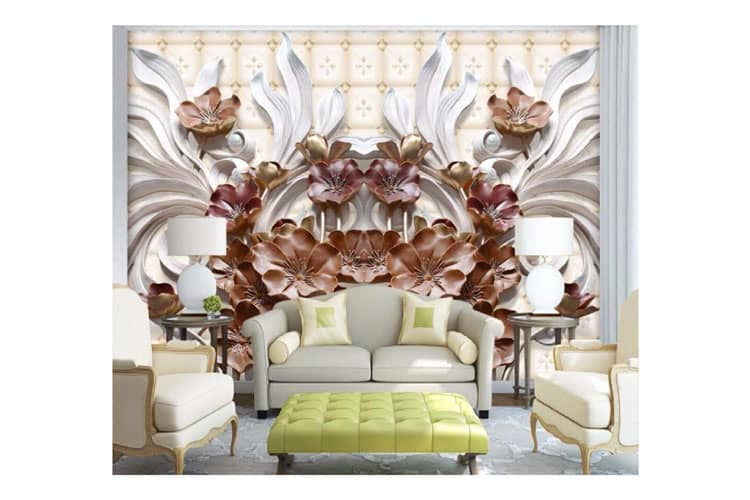 3D-floral-wall-mural