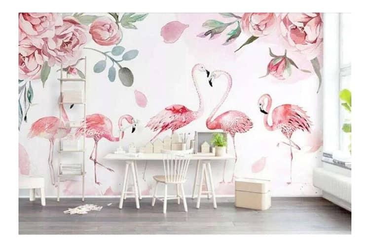 3D-pink-Flamingo-garden
