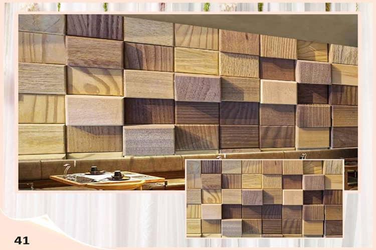 3D wood mural