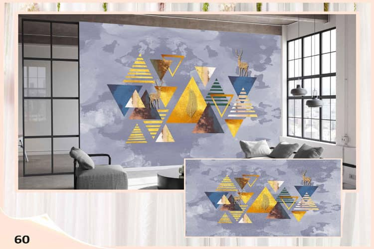 Abstract 3D wall mural
