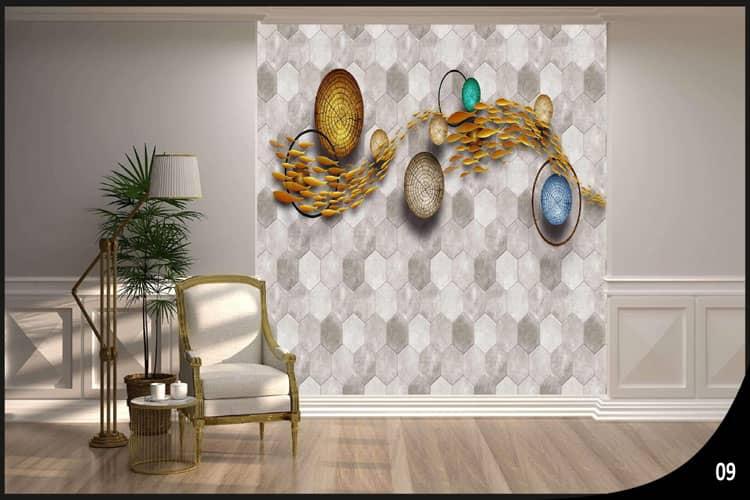 3D floral wallpaper mural