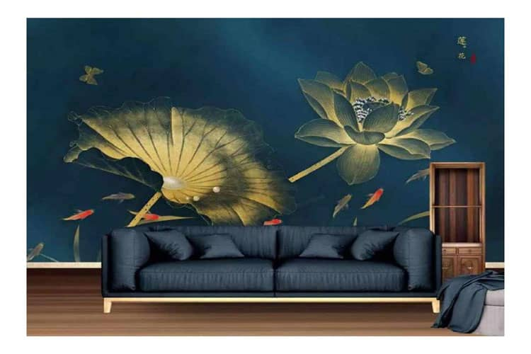 Abstract-gold-ligh-wall-lot