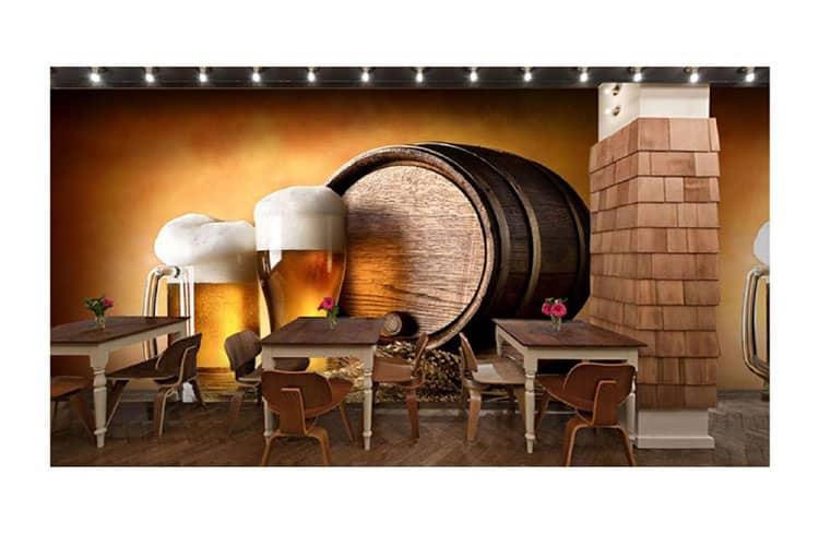 Beer-design-wall-mural