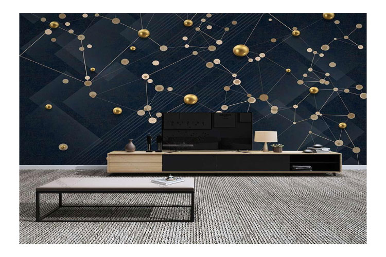 Black-and-gold-wall-mural
