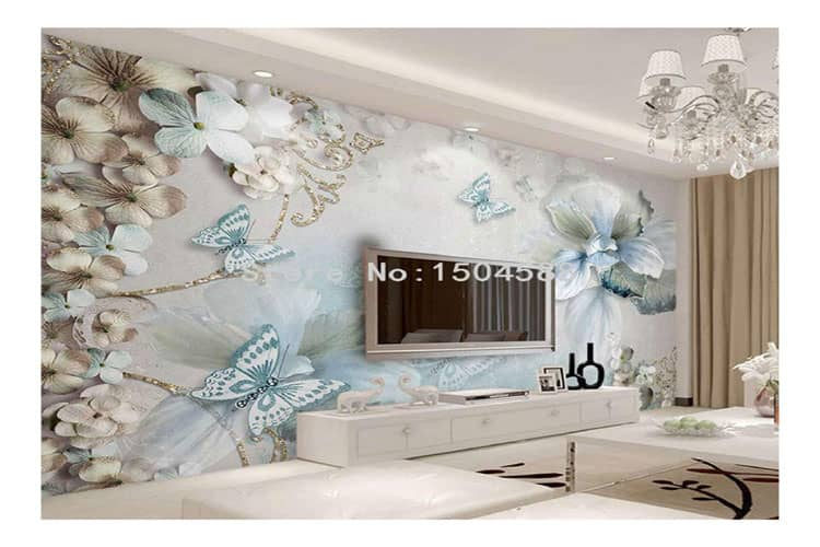 Butterfly-wall-painting-wallpaper