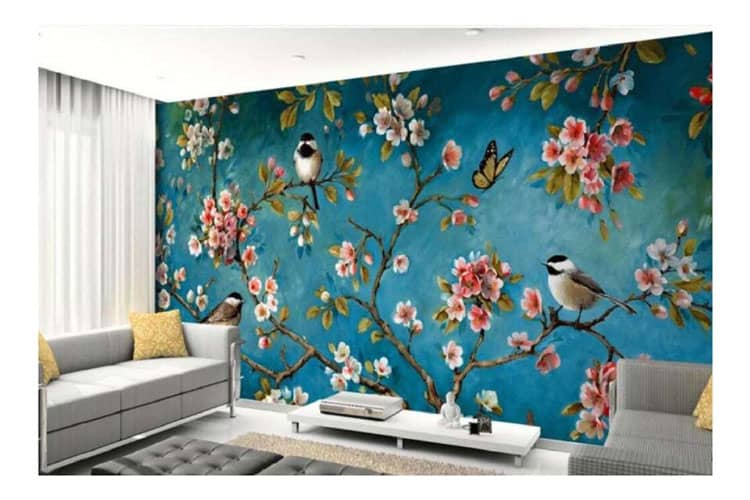 Flowers-and-birds-background