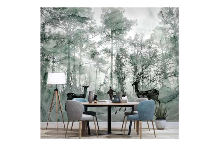 Forest-painting-wall-mural