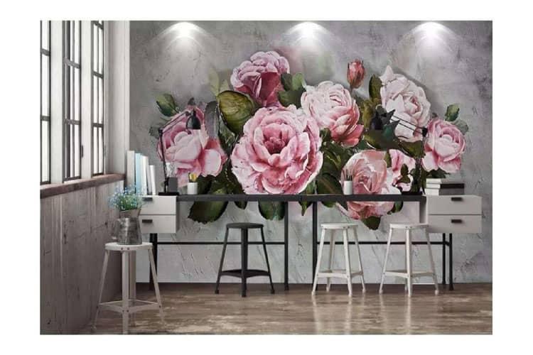 Hand-painted-rose-peony-flower