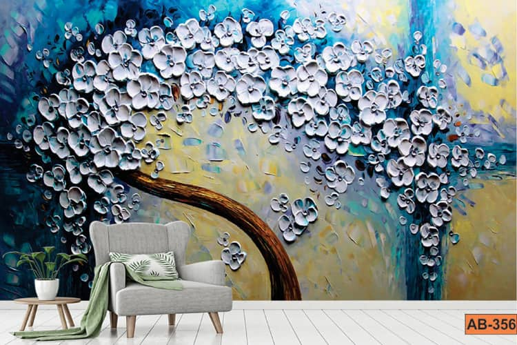 Dagger crafts Giant tree fountain paintings wallpaper mural